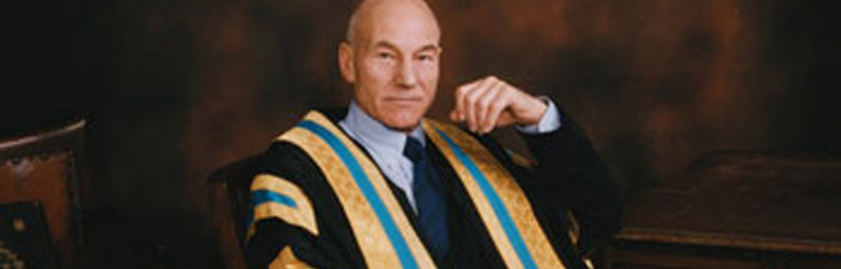Sir Patrick Stewart as the Chancellor of the University of Huddersfield