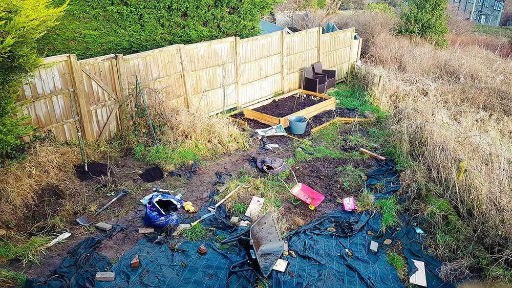 Vancano's messy allotment in December 2020