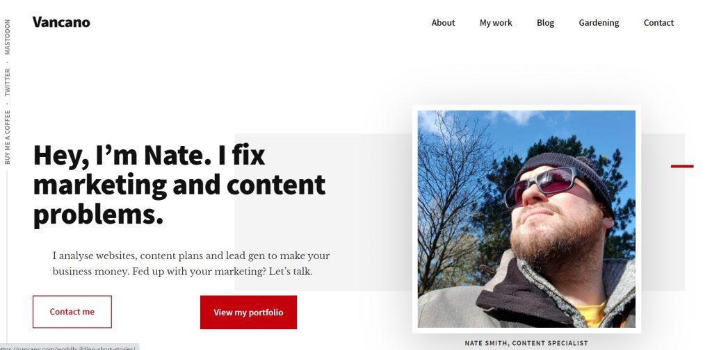 Vancano homepage