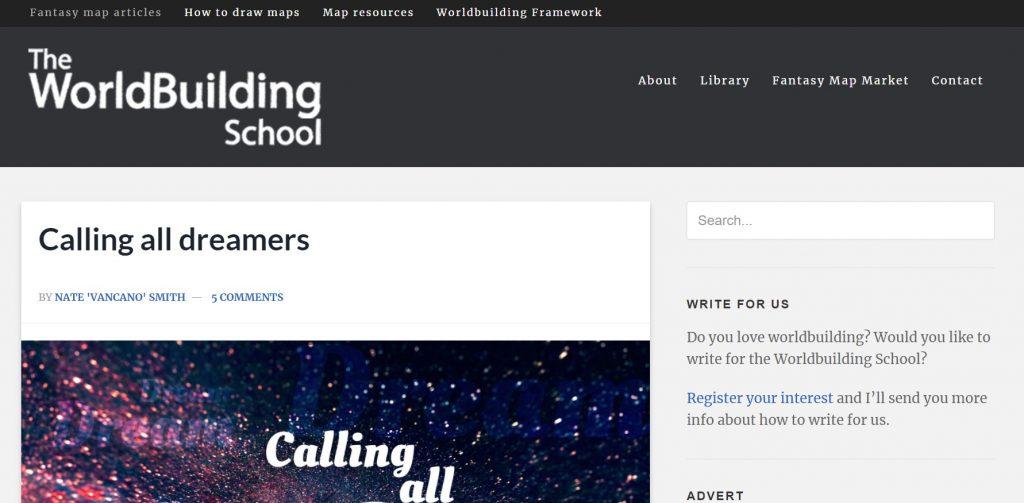 Worldbuilding School homepage
